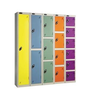 Probe coloured door premium lockers