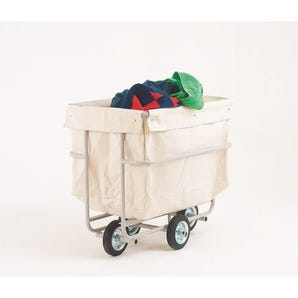 Folding linen trucks with canvas bags