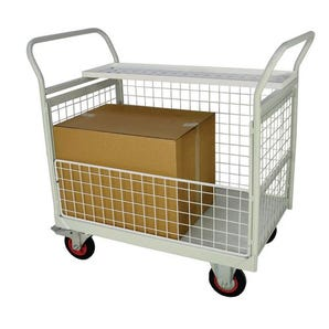 Mesh sided mail trolleys