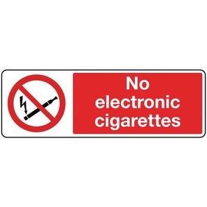 Smoking prohibition signs - No electronic cigarettes