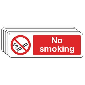 No smoking sign - multi-pack of 5