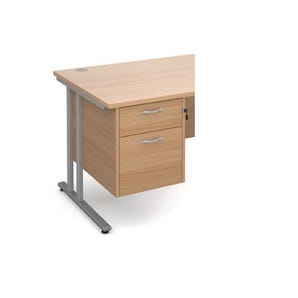 Traditional fixed pedestal drawer accessory desks