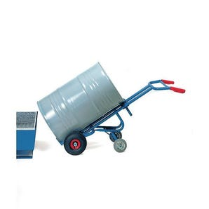 Fetra drum truck for steel drums, double castor support
