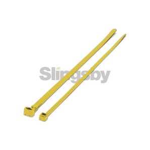 Mixed standard coloured plastic cable ties, yellow