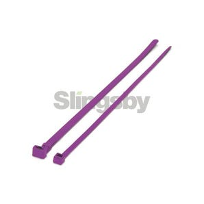 Mixed standard coloured plastic cable ties, purple