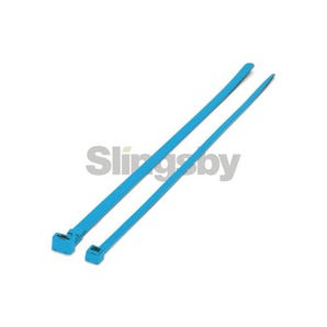 Mixed standard coloured plastic cable ties, blue