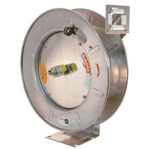 Stainless steel spring rewind hose reels - bare reel no hose
