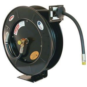 Metal spring rewind powder coated steel compressed air/water reels