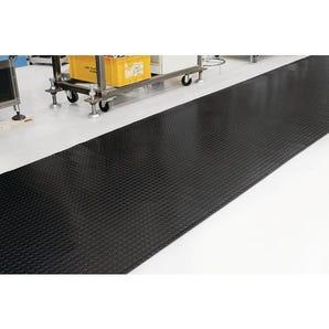 Slip resistant PVC studded floor matting