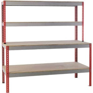 Kit form benches with shelves