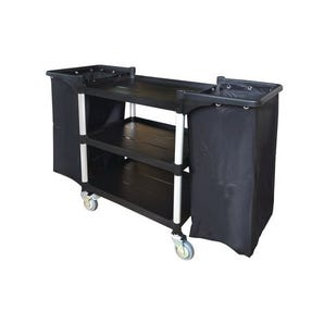 Plastic housekeeping trolleys with frames and bags