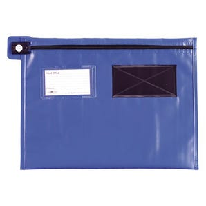 Reusable tamper evident mailing pouches, flat with long zips