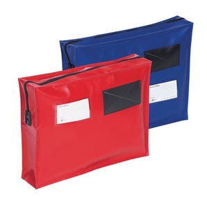 Reusable tamper evident mailing pouches with full gussets