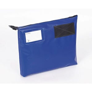 Reusable tamper evident mailing pouches with bottom gussets