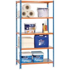 Boltless steel shelving with metal shelves - 180kg