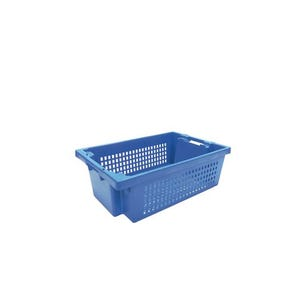 Perforated side stack and nest containers