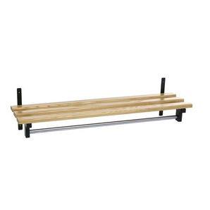 Evolve wall mounted wood cloakroom shelf with shelf