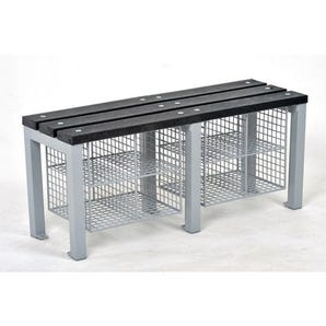 Eco plastic slat cloakroom bench - Bench only