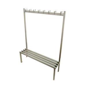 Steel single-sided cloakroom bench