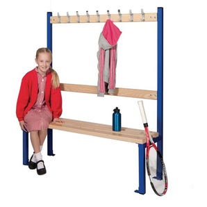 Childrens single sided cloakroom bench