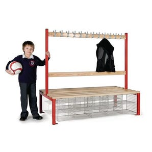Childrens double sided cloakroom bench