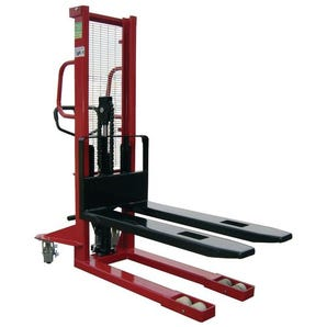 1000kg Manual pallet stackers - fixed forks
