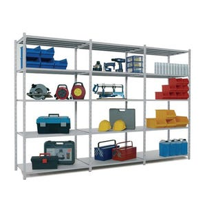 Light tubular shelving - Add-on bays with covers