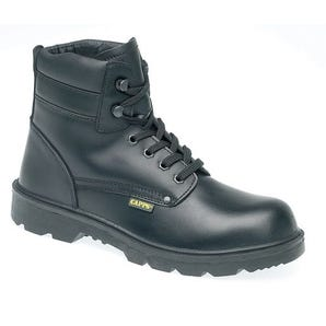 High cut leather safety boots