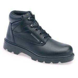 Smooth leather contract derby safety boots