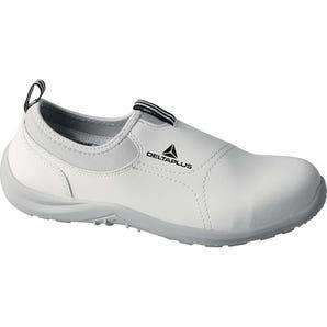 Miami white slip on safety shoes