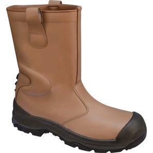 Fur line rigger boots