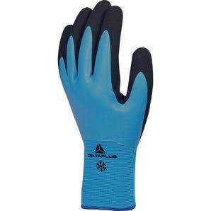 Waterproof thermal latex grip gloves