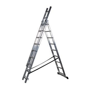 Transformable aluminium combination ladders - 3 section