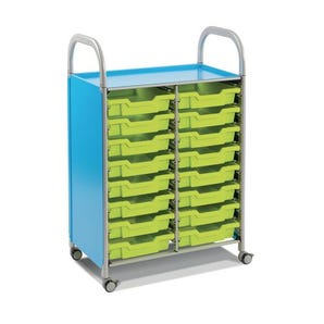 Callero mobile tray storage trolleys