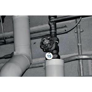 27mm Traffolyte valve marking tags - No. 051-075