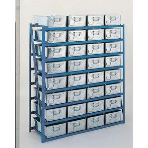 Tote pan racks 1350mm wide - pans included