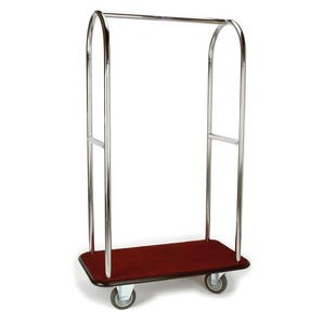 Stainless steel bellmans luggage trolley