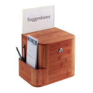 Bamboo suggestion box