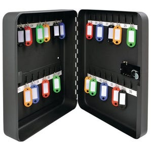 Key cabinet with combination lock