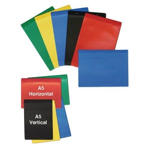 Magnetic coloured document pockets