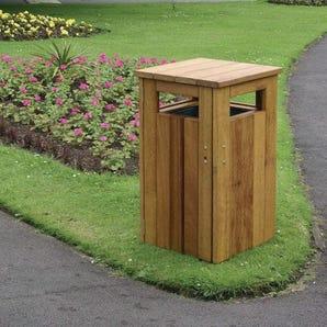 Hardwood litter bin