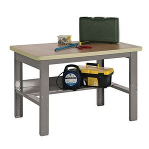Adjustable height workbenches