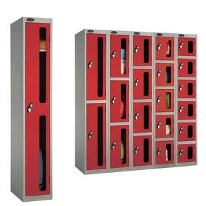 Probe vision panel door anti stock theft lockers