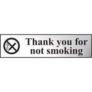 Thank you for no smoking sign
