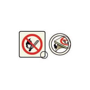 Photoluminescent no naked lights sign