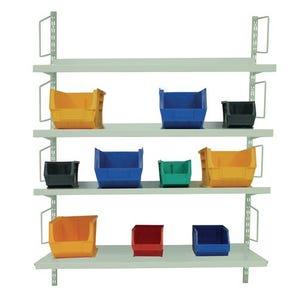Wall mounted twinslot shelving kits - 1980mm high