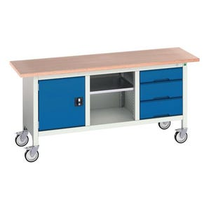 Bott Verso storage workbenches - static and mobile, mobile