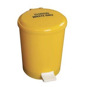 Yellow pedal bin