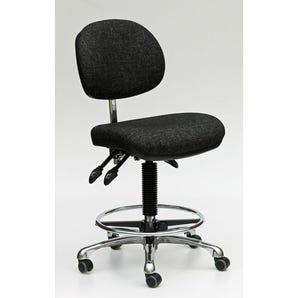 High, fully ergonomic industrial upholstered chair