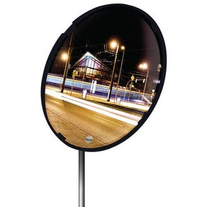 Colour framed multi-purpose convex mirror